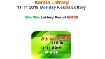 Kerala State Lottery Today result: Win Win W-538 winning numbers soon