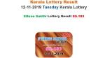 Kerala State Lottery Result: Sthree Sakthi SS-183 prize money