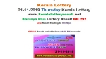 Kerala State Lottery Today Result: Karunya Plus KN-219 result LIVE