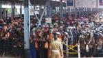 Heavy rush of pilgrims at Sabarimala Temple