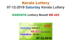 Kerala State Lottery Today Result: Karunya KR-425 lottery result