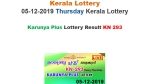 Kerala State Lottery Today Result: Official result of Karunya Plus KN-293