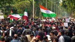 Hundreds of AMU students students block highway, demand release of arrested student