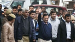 Holding token number 45, Kejriwal lines up to file nomination papers