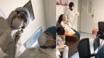 Viral video shows exhausted doctor treating coronavirus crying after working for days without sleep