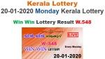 Kerala Win Win W-548 lottery result LIVE