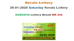 Kerala Lottery Karunya KR-432 today lottery result LIVE