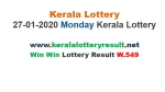 Kerala Lottery Win Win W-549 today lottery result LIVE