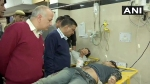 Kejriwal, Sisodia visit GTB Hospital to meet those injured in violence