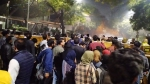 Kejriwal come out, talk to us: Protesters call upon Delhi CM; Police uses water canon