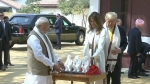 All in 15 min, Trump tours Sabarmati Ashram, spins Bapu's Charkha, gifted 'Three Wise Monkeys'
