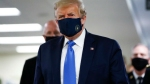In a first, Trump dons mask as Covid-19 death toll in US surpasses 134,000