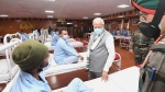 Modi meets brave soldiers involved in Galwan Valley clash: See pics