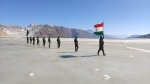 Watch: ITBP jawans celebrate Republic Day on an ice body in Ladakh