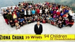 Mizoram man, head of world's largest family with 39 wives, 94 kids, dies at 76