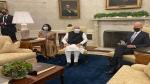PM Narendra Modi holds first bilateral meeting with US President Joe Biden