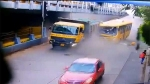 Accident caught on camera: Bus rams into dumper truck in Mumbai, 5 seriously injured