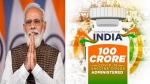 PM Modi changes Twitter profile picture as India hits 100-crore Covid vaccine milestone