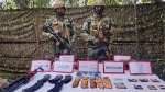 Security forces terror hideout, recover ammunition dump