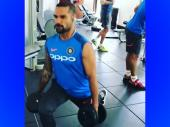 Dhawan trains at gym with Kohli