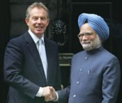 PM hosts lunch for Tony Blair, Chidambaram present
