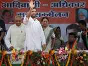 Rahul Gandhi addresses tribals, promises implementation of tribal bill