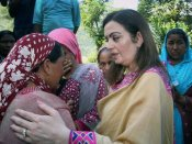 Pics: Nita Ambani spreads smiles in Guptkashi