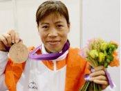 London Olympic bronze medallist Mary Kom receives award by Gadkari