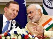 Australian PM Tony Abbott calls up Narendra Modi; thanks for warm hospitality