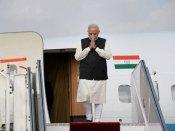 Narendra Modi arrives in Astana, received by Kazakhstan PM Karim Massimov