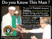 Meet this real hero, a 73-year-old farmer who donated for Chennai floods