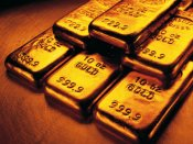 Gold up on weak US equities