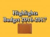 Union Budget 2016: Highlights