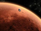 Close encounter between Mars and Earth