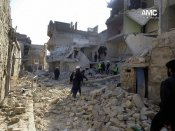 Haunting image of Syrian boy rescued from Aleppo rubble released