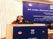 Maneka Gandhi at All India Women Journalists' Workshop talks about malnutrition