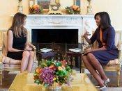 Michelle Obama gives Melania Trump tour of White House