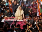 Sonia Gandhi During A Road Show