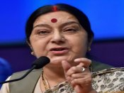 Sushma Swaraj holds talks with Belarusian industry minister