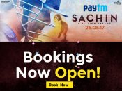 Sachin Comes In To Bat Today, Movie Tickets Rs.100 Cashback* via Paytm