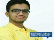 JEE Advanced result 2017: Sarvesh Mehtani is All India topper