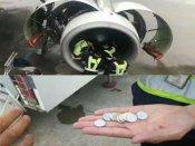 Grandma throws 'lucky' coins into engine, delays flight