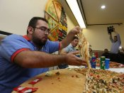 California chefs prepare 2km long pizza; sets Guinness World Records