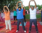 PHOTOS: TDP MLA And Actor Balakrishna And Others Perform Yoga