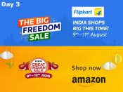 Day 3 - The Amazon Great Indian Sale, Flipkart Big Freedom Sale - Upto 71% Off on Products*
