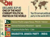 BJP voted 4th most corrupt party: It is fake news