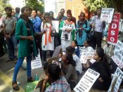 Protest against violence on BHU students rages on VC stays in denial