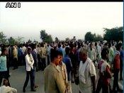Yamuna Expressway blocked by locals near Mathura