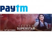 Aamir Khan's 'Secret Superstar' Get Upto Rs. 200 Cashback via Paytm now!