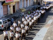 To conquer Karnataka, 50,000 swayamsevaks take to the ground
